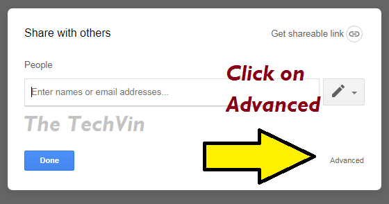 advanced in document