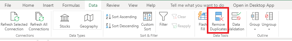 how to remove duplicates in excel 365