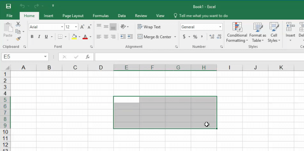 How to Select Cells in Excel blank