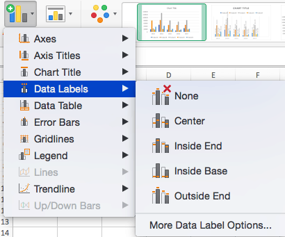 How to Add Data Labels of Graph in Excel