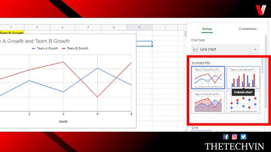 how to make a chart in google sheets