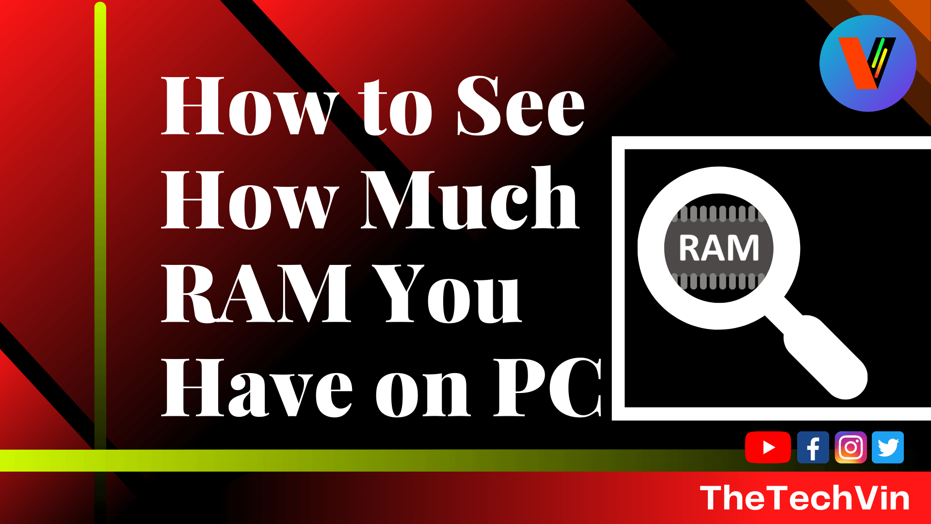 How to see how much RAM you have