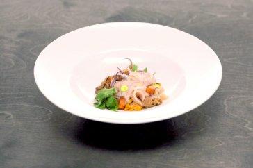 Phillip's Ceviche mixto with tiger shrimp, halibut, razor clams and squid