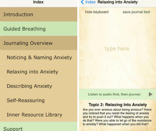 At Ease App Screenshot
