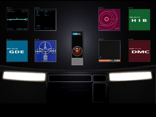 interface of hal 9000 computer
