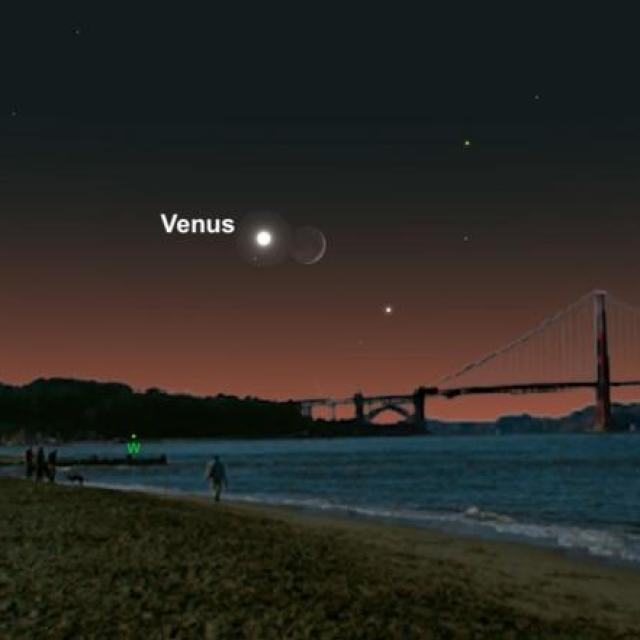 Venus meets the Moon
