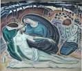 Ο Θρήνος (Αποκαθήλωση) - Κωστής Παρθένης, 1917, ελαιογραφία σε μουσαμά, ιδιωτική συλλογή