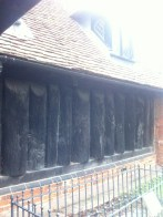 The Saxon logs between Victorian foundation and Tudor roof