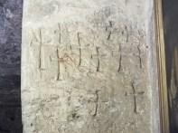 Templar graffiti high up on a pillar