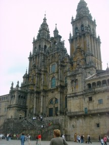 The front facade of the cathedral