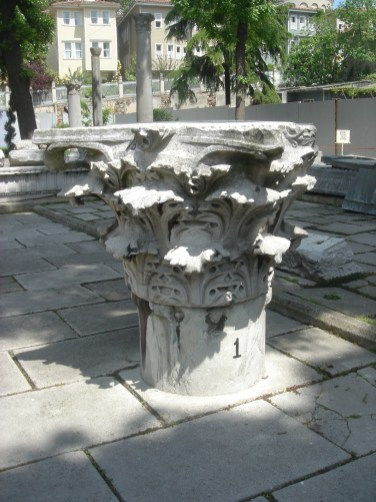 Pillar from the first Hagia Sophia