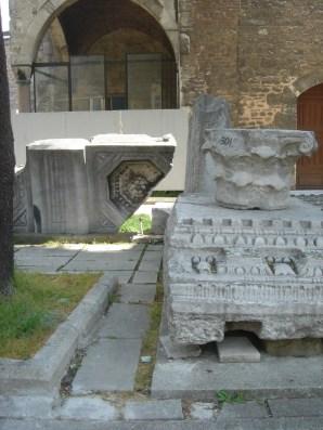 Pillars from the first Hagia Sophia (Theodosius II)