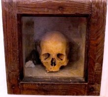 A skull in one of the chapels