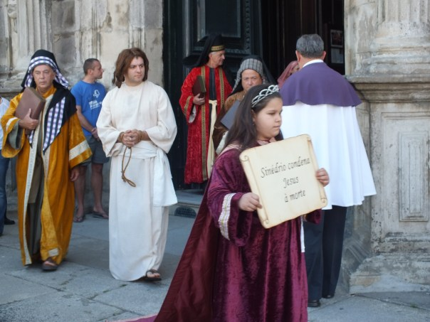Good Friday is always acted out in a procession during the feast of Our Lady of Agony in Viana do Castelo in northern Portugal