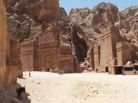 Tombs in the main city area of Petra