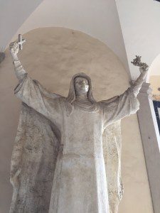 A statue at the shrine to Catherine