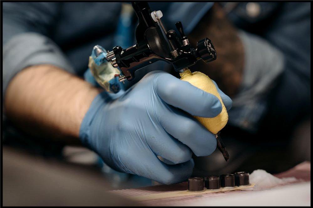 Tattoo, needle, machine, art