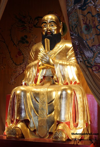 Wen Miao Golden Statue of Confucius