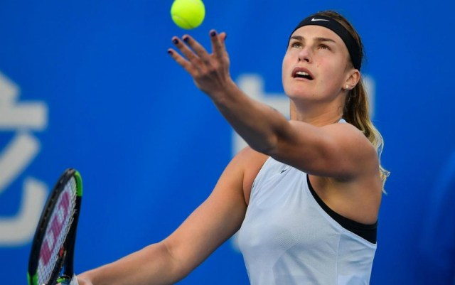Aryna Sabalenka won a strong-willed victory at the start of the tournament in Shenzhen