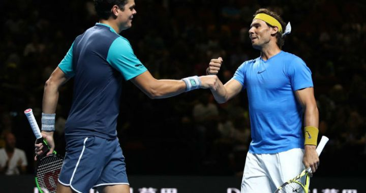 Rafael Nadal and Milos Raonic won the Fast4 exhibition competition