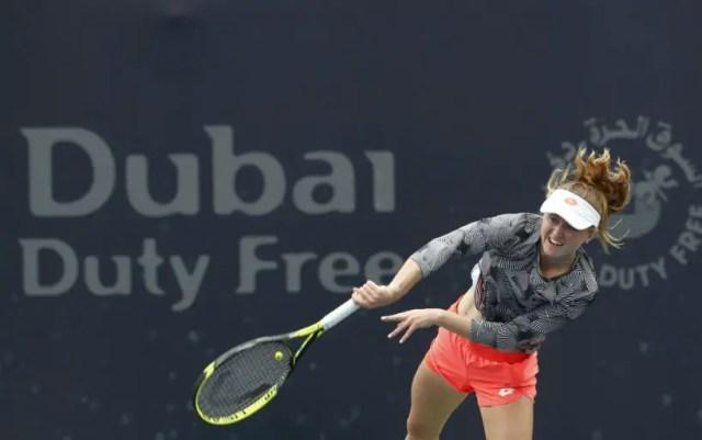 Alexandra Sosnovich leaves the tournament in Dubai