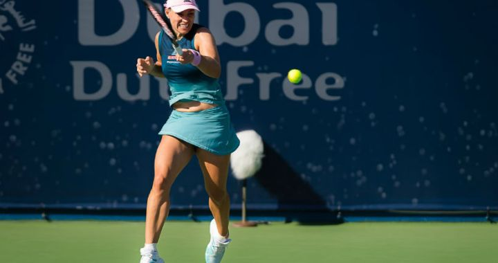 Angelique Kerber leaves the tournament in Dubai