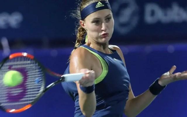 Kristina Mladenovic leaves the tournament in Dubai