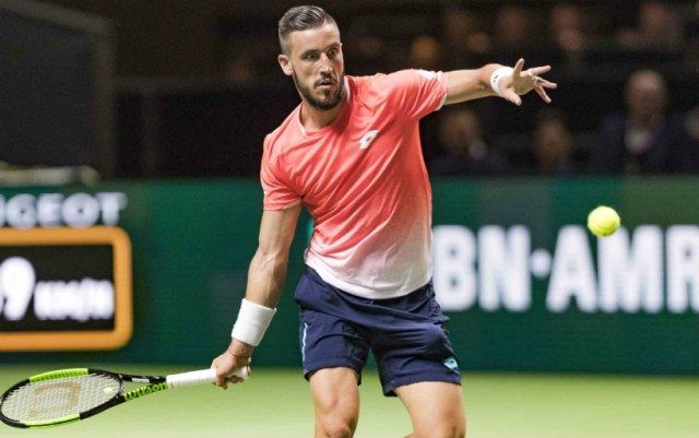 Damir Dzumhur reached the quarterfinals of the tournament in Rotterdam