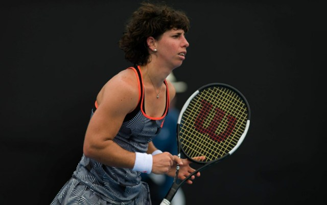 Dubai. Carla Suárez Navarro gave Barbora Strycova only four games