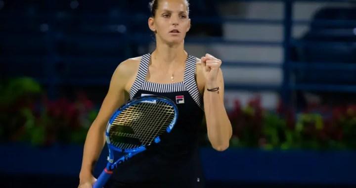 Dubai. Karolina Pliskova beat Alison Riske in two tiebreaks