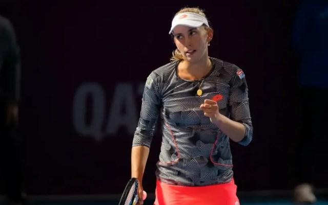 Elise Mertens became champion in Doha