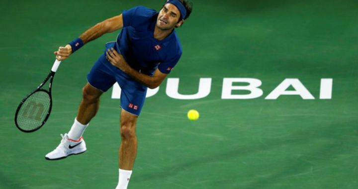 Roger Federer won the starting match of the tournament in Dubai