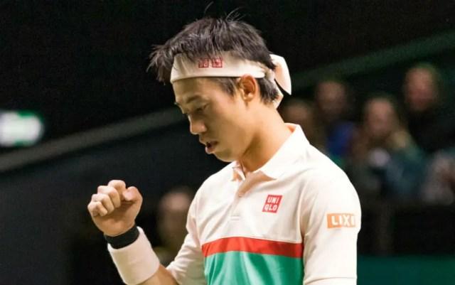 Rotterdam. Kei Nishikori defeated Ernests Gulbis