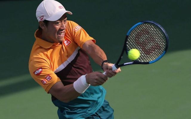 BNP Paribas Open. Kei Nishikori advanced to the third round