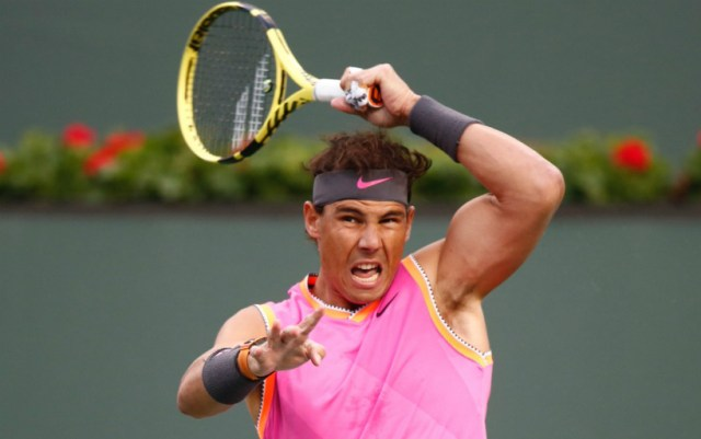 BNP Paribas Open. Rafael Nadal gave his opponent only two games
