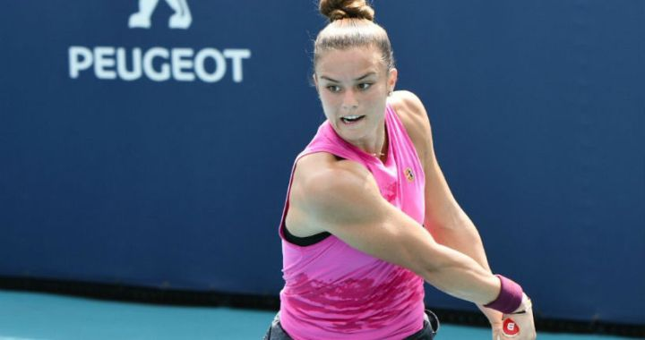 Maria Sakkari passed in the second round of the competition in Miami