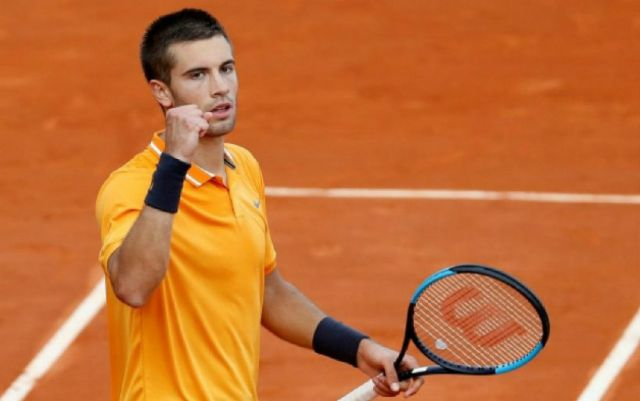 Borna Coric finished the performance in Monte Carlo