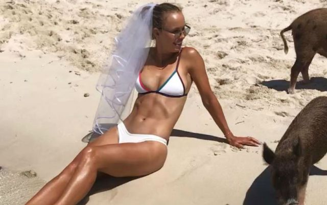 Caroline Wozniacki shared a shocking photo in a bathing suit