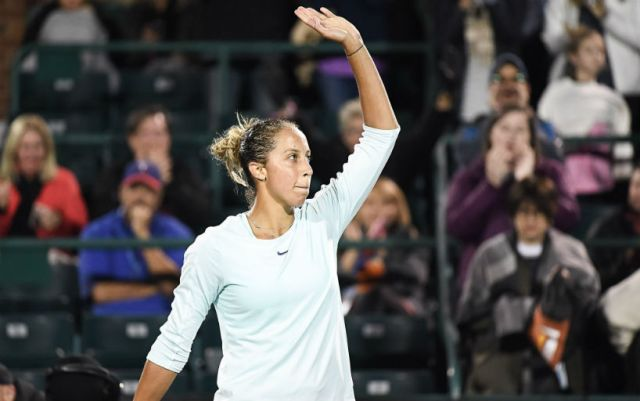 Charleston. Madison Keys defeated Jelena Ostapenko