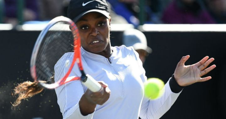 Charleston. Sloane Stephens won her first match in competition