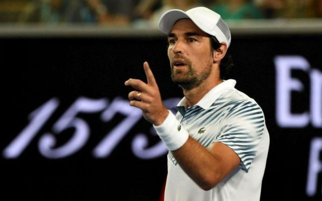 Jeremy Chardy dropped out of the fight in a tournament in Houston