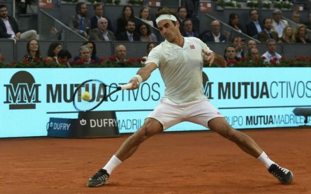 Roger Federer successfully began the performance in Madrid