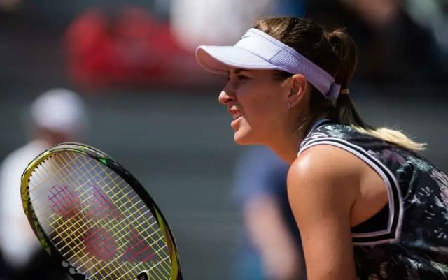 Belinda Bencic won the opening match at the Mallorca Open tournament