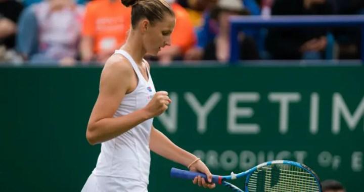 Karolina Pliskova became champion of the Eastbourne tournament, beating Angelic Kerber