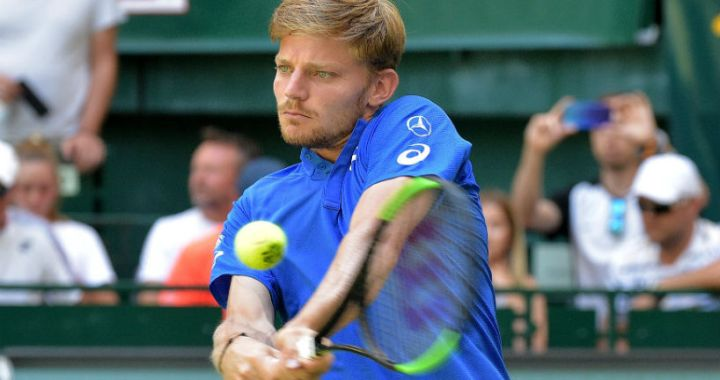 David Goffin made it to the quarter finals in Halle