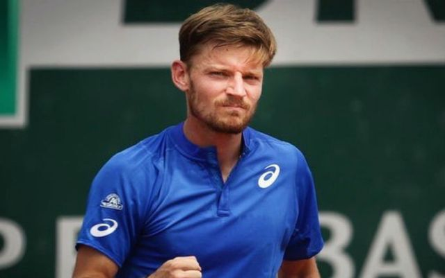 Halle. David Goffin gave Guido Pella two games