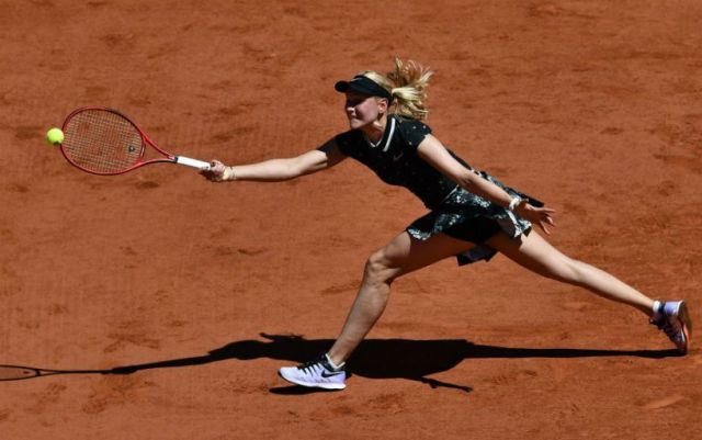 Paris. Donna Vekic was defeated by Johanna Konta