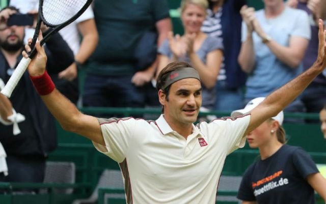 Roger Federer went into finals in Halle
