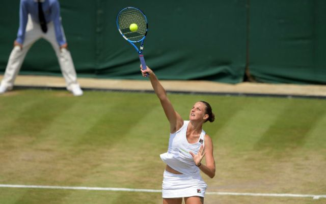 Karolina Pliskova made it to the 1/8 finals of Wimbledon
