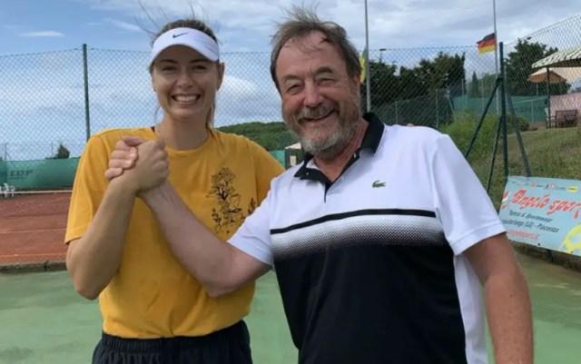 Maria Sharapova worked with former coach Novak Djokovic